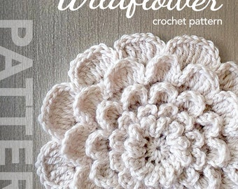 Crochet Flower Pattern PDF (The Neverending Wildflower Crochet Pattern by Little Monkeys Crochet) flower crochet pattern
