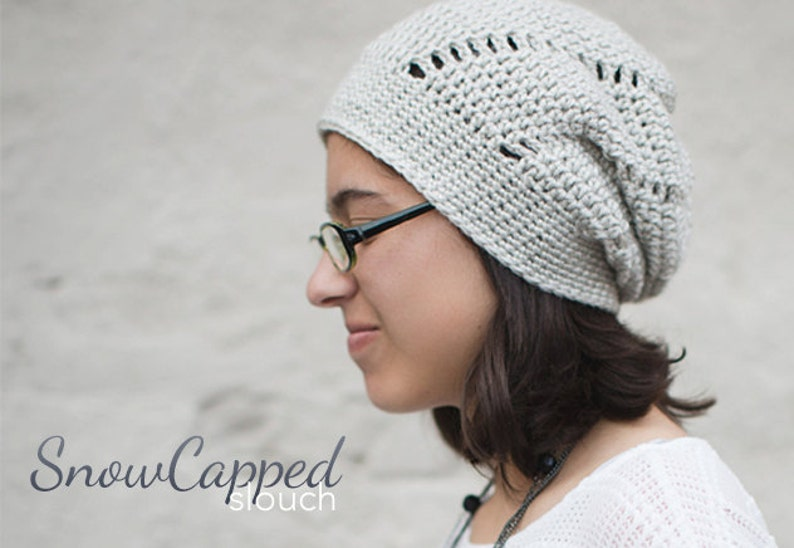 611af50289cf4 Slouch Hat Crochet Pattern PDF The Snowdrift Slouch Hat