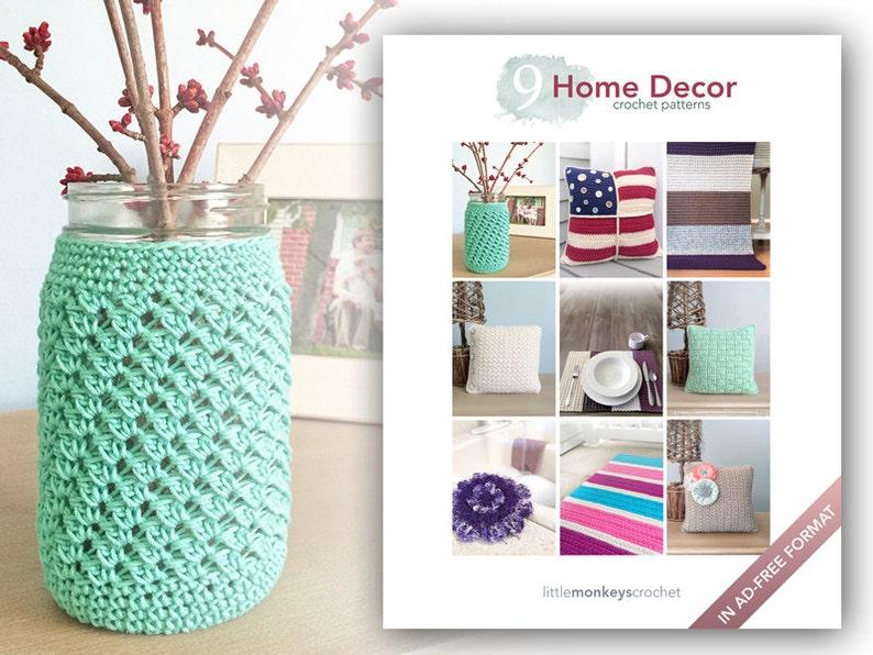 Home Decor Crochet Patterns  9 Pattern E-Book by Little image 0
