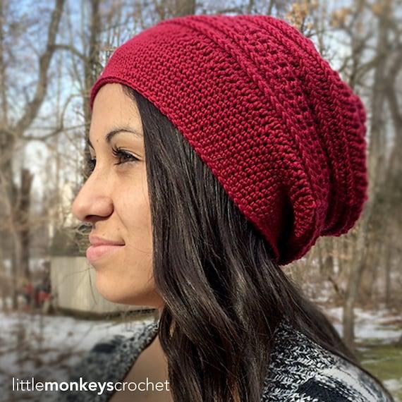 Slouch Hat Crochet Pattern Marion Slouch Crochet Pattern Pdf Etsy
