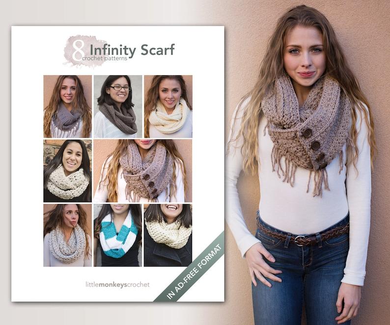 Infinity Scarf Crochet Patterns  8 Pattern E-Book by Little image 0