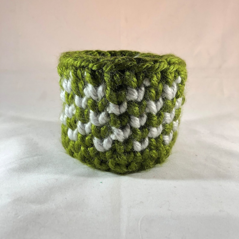 solid and beautiful Crochet Bowl heavy