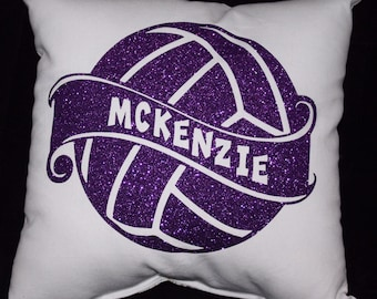 Custom VOLLEYBALL Pillow PERSONALIZED with players name Volleyball gifts for players teenage girls Christmas present - Huge Team Discounts