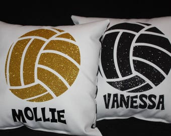PERSONALIZED  VOLLEYBALL PILLOW  team recognition gifts volleyball coach present bedroom decor team player  gift