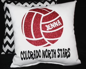 Personalized volleyball pillow team name player name Great gifts for senior night recognition Christmas sports gift Team Discounts Available