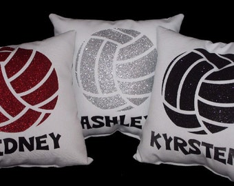 Volleyball Gifts For Players Senior Night Team Gift PERSONALIZED Volleyball Pillow Great Team Discounts
