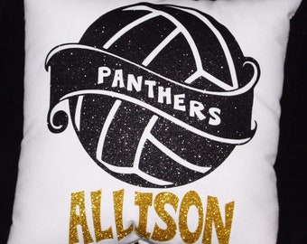 Deluxe PERSONALIZED VOLLEYBALL PILLOW Gifts For Players Teenage Girls Christmas Sports Present Senior Night- Team Discounts Available