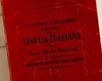 1957 - Italian Dictionary - Vintage Book - Petite