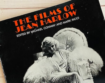 1965 - The Films of Jean Harlow - Vintage Book - Hollywood Glamour