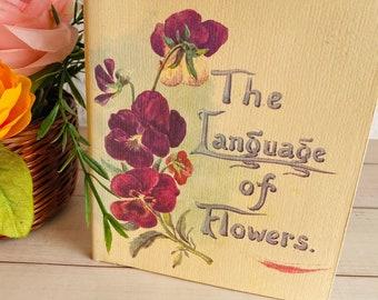 1976 - The Language of Flowers - Margaret Pickston - Victorian/Edwardian - Petite Hardcover