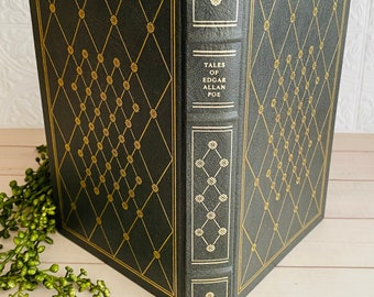 Tales of Edgar Allan Poe - Franklin Library - Leather Book - Vintage - Illustrated by Harry Clarke
