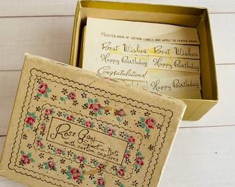Vintage Notecards - Select A Note - Rose Gay - Floral - Ephemera