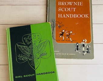 1950's Girl Scout and Brownie Scout Handbooks - Vintage Book Set -  Juliette Gordon Low
