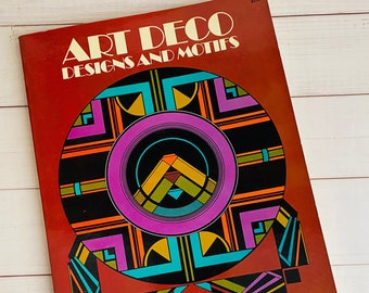 1972 - Art Deco Designs and Motifs by Marcia Loeb - Art - Softcover - Vintage Book