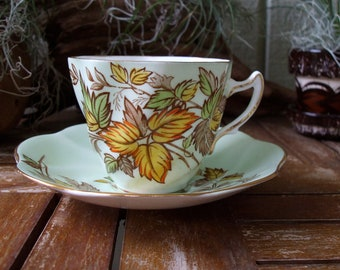 Vintage Rosina Bone China Tea Cup & Saucer