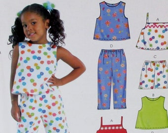 Easy Stitch 'n Save Pattern M4341  -Toddler and  Children's Summer tops, shorts & Pants Sizes 3-4-5-6  Uncut