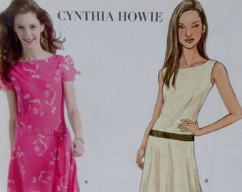 2005   Butterick Misses Cynthia Howie  Petite Dress sewing pattern #B4509 Size 6-8-10-12 Uncut