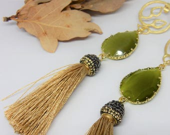Autumn Gold Plated Earrings - Christmas Gift