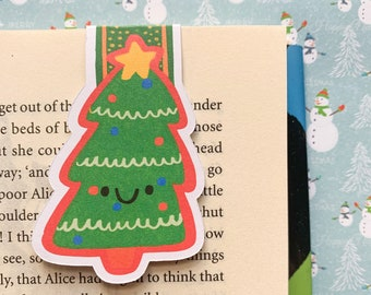 Cute Christmas Tree Magnetic Bookmark - Christmas Bookmarks - Gift for readers - Small Gift Ideas - Merry Christmas - Festive - Seasonal
