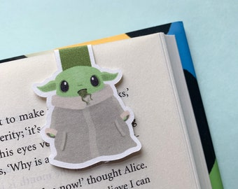 Baby Yoda Magnetic Bookmark - The Mandalorian - Reader Gift - Cute Kawaii Gift Idea