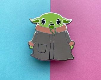Baby Yoda Hard Enamel Pin - Fantasy Pin Badge - Baby Yoda Inspired Enamel Pin - The Child - Small Gift Idea - Collectors Lapel Brooch