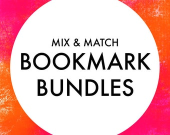 Mix & Match Bookmark Bundles - Magnetic Bookmarks - Page Keepers - Page Hangers - Small Gift Idea - Gifts for Book Lovers