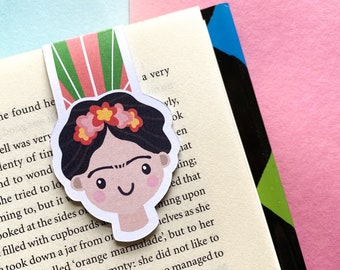 Frida Kahlo Magnetic Bookmark - Page Keepers - Book Accessories - Gift for Book Lovers - Small Gift Ideas - Powerful Women Gifts