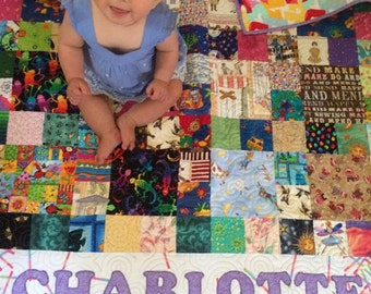 I Spy Quilt - made to order, personalized, novelty quilt, educational