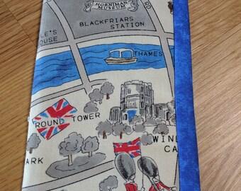 Eyeglass fabric case - City of London  landmarks Map padded glasses case