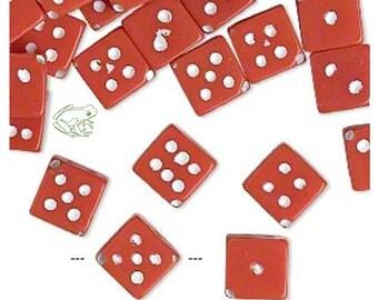 "5 Yards Red White Dominos Dice Polkadot Satin Ribbon 7//8/""W"