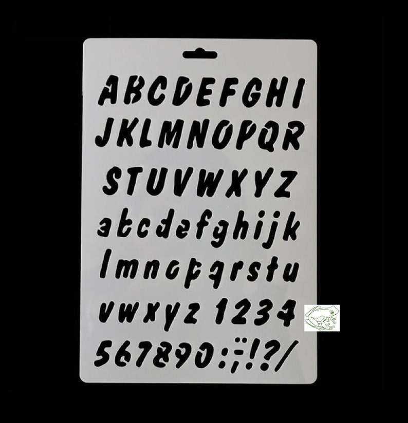 Food Safe Stencil Letters Word Stencil Alphabet Stencil Painting Cake Decoration ABC Exclamation Drawing Puncuation Numbers xyz