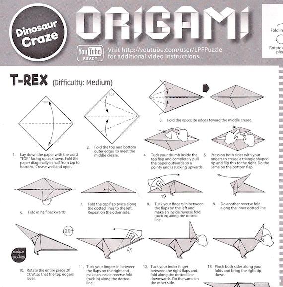 Origami Velociraptor from Jurassic park. I like