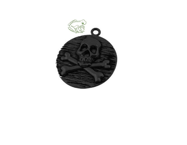 Pirate Pendant, Bulk Discount, Gunmetal Pirate, Pirate Coin, Skull and  Crossbones, Skull Pendant, Gunmetal Skull, 3D Pirate, SLT193