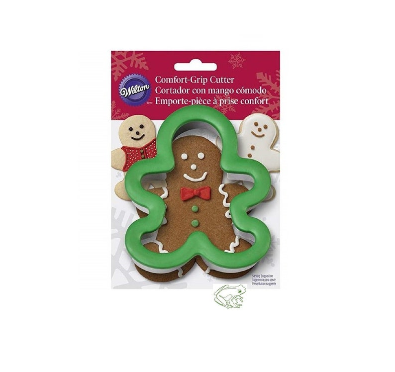 Gingerbread Cookie Cutter Wilton Comfort Grip Ginger Bread Boy Christmas Cookie Large Cookie Stainless Steel Durable Rust Resistan
