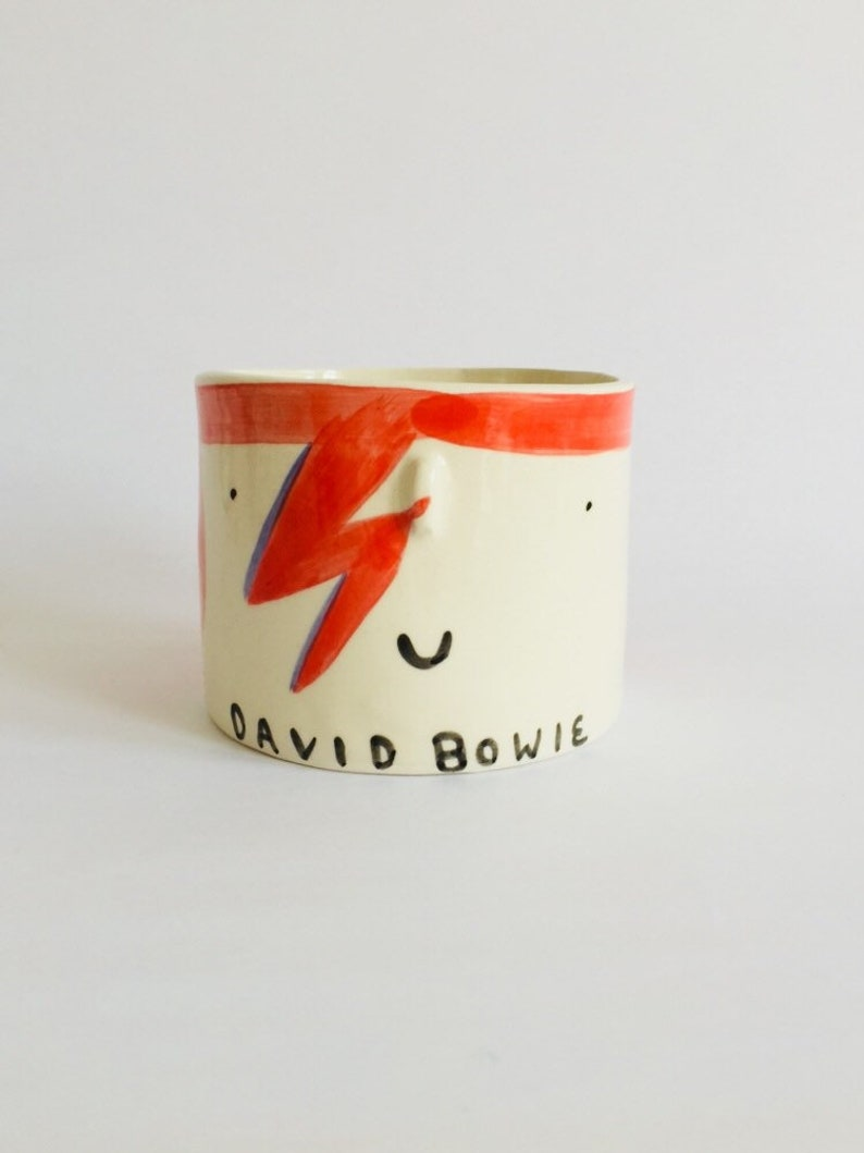 David Bowie ceramic planter image 0