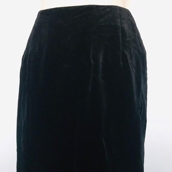 Vintage skirt, velvet skirt, black skirt,long straight skirt, UK 8, cotton velvet,goth alt Victoriana style Steampunk