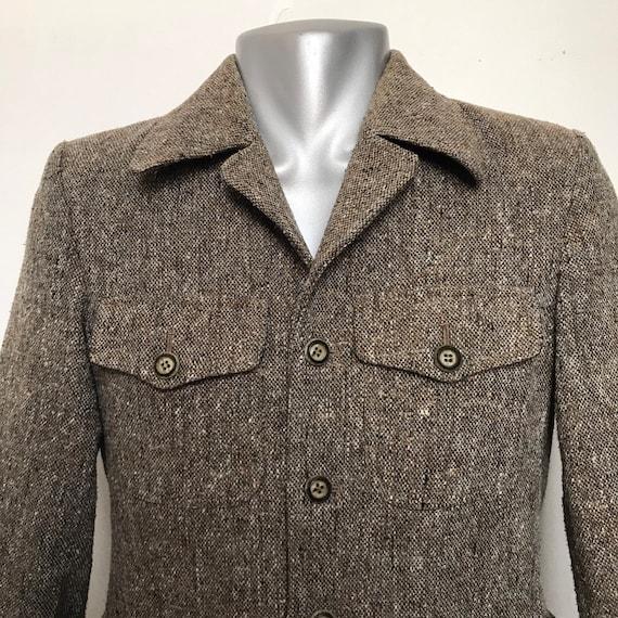 "1970s jacket,Sports coat,hunting,jacket,tweed,vintage menswear,70s tweed,classic,38"" C,4 pocket jacket,vent back,goodwood,Steam Punk cosplay"