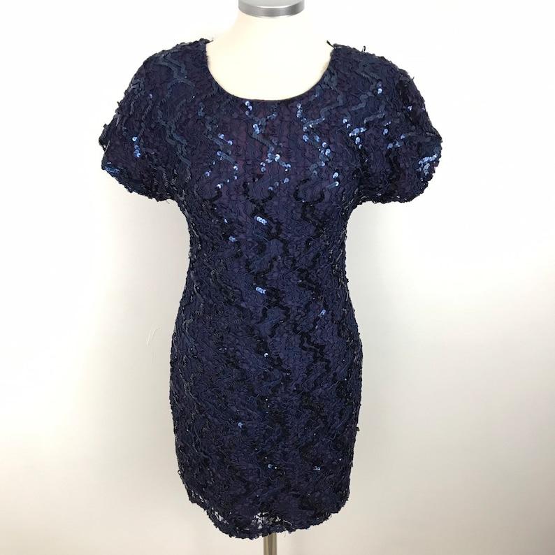 3c5dd301 Vintage dress sequin dress 1980s cocktail dress cabaret | Etsy