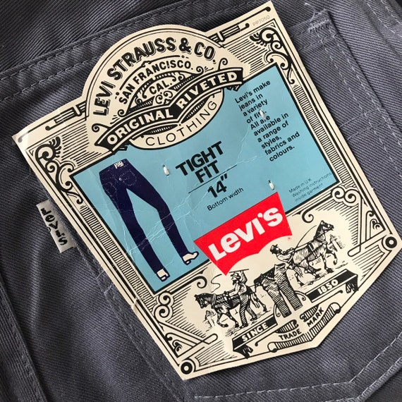 Vintage Levis,vintage pants,straight leg,cotton twill jeans,grey trousers,workwear, high waisted,utility,80s pants,29 waist 34 leg,long,NWT