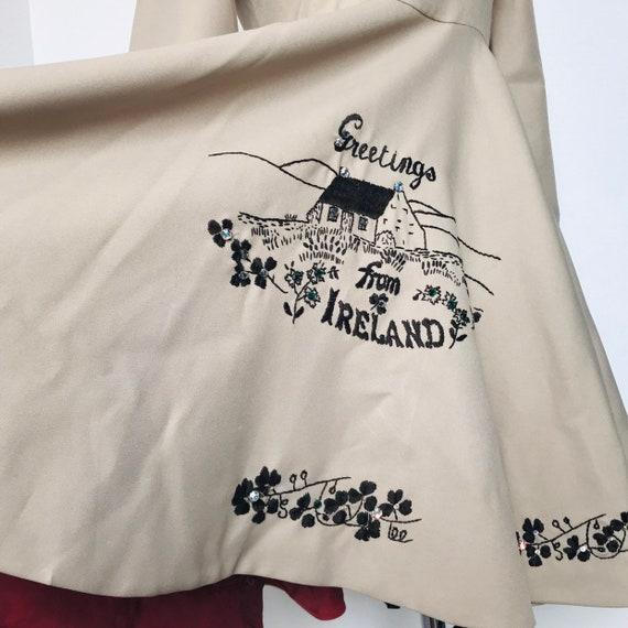 Vintage dress,Irish dancing,vintage dancer,Ireland,embroidered,UK 10,dance costume,1970s,Steampunk,full skirt,flared skirt,river dance