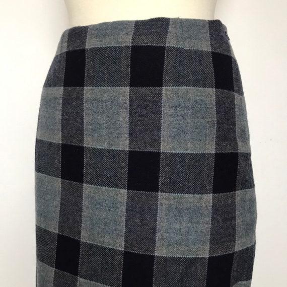 vintage skirt,plaid skirt,wool,tartan,woven,plaid traditional check,UK 12,classic,tweed skirt,straight skirt,audrey horne,1950s,50s skirt,