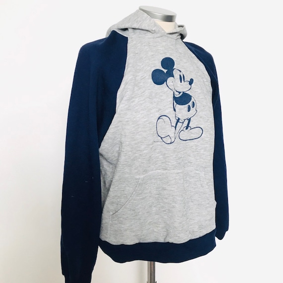 Vintage Disney, sweatshirt, sweater,hoodie,grey marl,Disneyland memorabilia top,raglan sleeves,Mickey Mouse sweater,outfit,suit,S,80s,