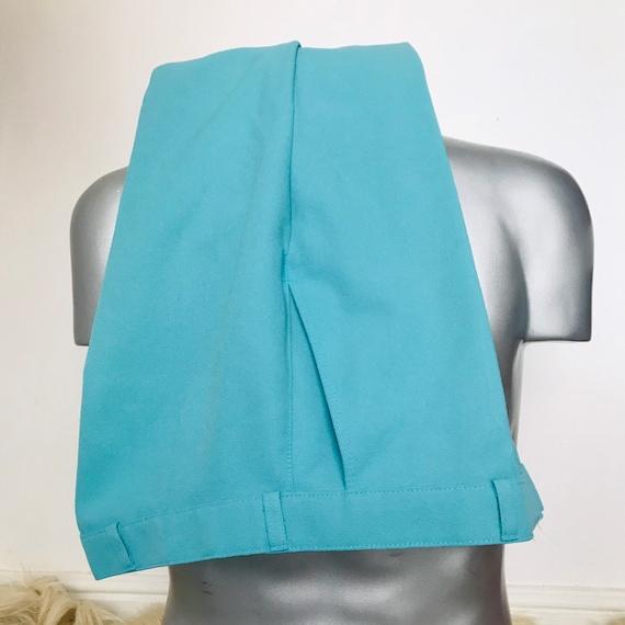 "Vintage trousers,turquoise pants,mens trousers,34"" waist,1970s pants,vintage menswear,straight pants,golf trousers,golf pants,slim leg"