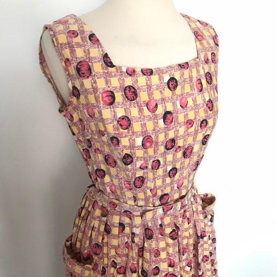 Vintage dress, 50s dress, 1950s dress, UK 12, midc