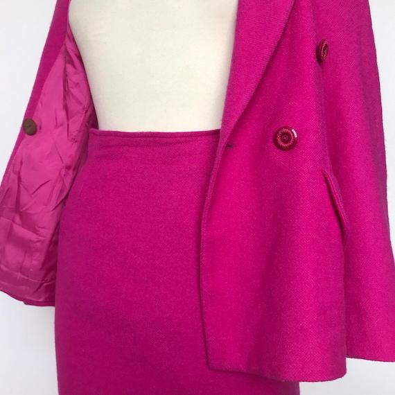 Vintage suit,pink suit,blazer,pencil skirt,UK 12 14,1980s suit,ladies suit,vintage ladies suit, longline jacket, tailored,classic,80s