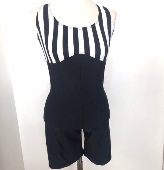 Vintage jumpsuit,lycra playsuit,catsuit,unitard,leotard,stripey leotard,1980s cycling shorts,skintight,swimwear,beach,80s.L,large,UK 12 14