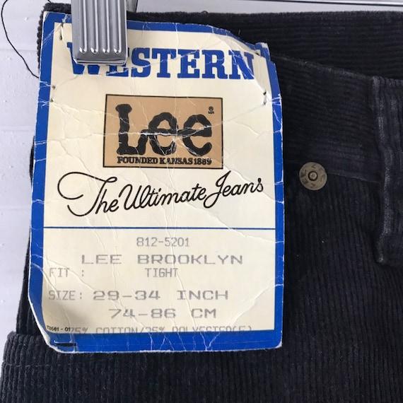 Vintage corduroy,1970s pants, straight leg, cord jeans,black trousers,cotton, high waisted,vintage Lee, 80s pants, 29 waist 34 leg,long,NWT