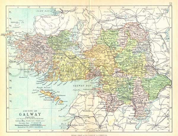 County galway 1897 antique irish county map of galway 8 x 10 ins county galway 1897 antique irish county map of galway 8 x 10 ins print free pp uk gumiabroncs Image collections