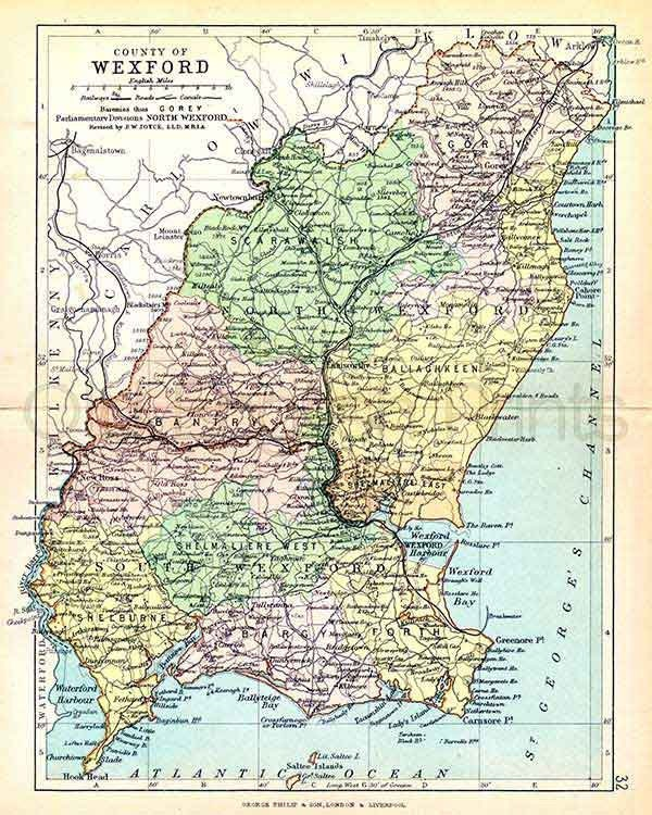 Antrim Ireland 1893 Unframed FREE DELIVERY Gicl\u00e9e Velvet Fine Art White paper Antique Irish County Map A3 size