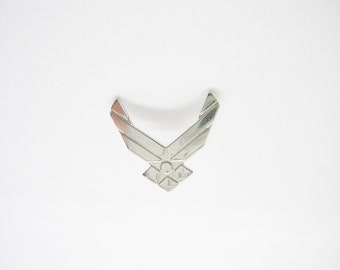 Air Force Achievement Lapel Pin Military Medal Tie Tack Silver Tone Gear Award made with a military medal
